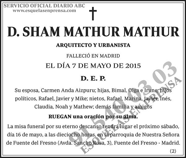 Sham Mathur Mathur